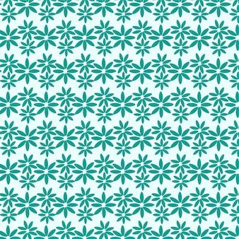 白い背景の上の抽象的な頭が変な花のシームレスなパターン繰り返し花のベクトルパターン
