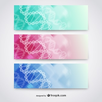 Abstract dna banners