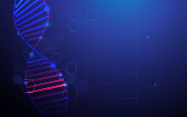 Abstract dna structure background
