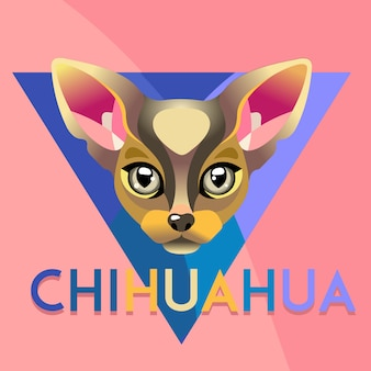 Abstract dog chihuahua illustration