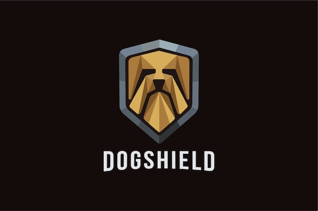 Abstract dog shield logo