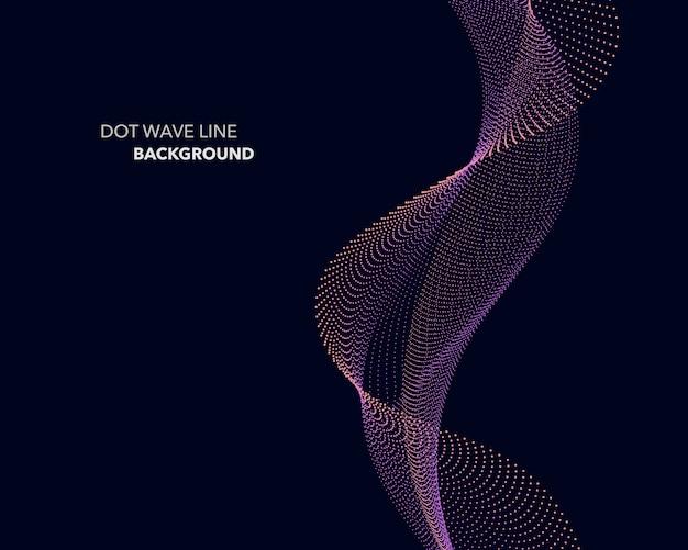 抽象的な点波線の背景。