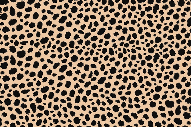 Abstract dots animal print design. leopard print seamless pattern. cheetah skin background.