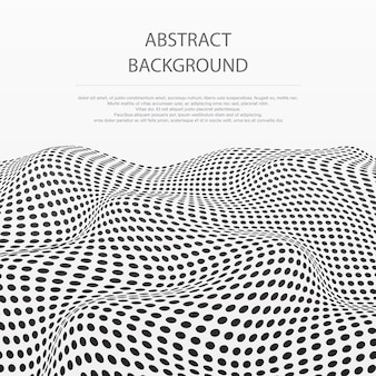 Abstract of dots stripe wave pattern background