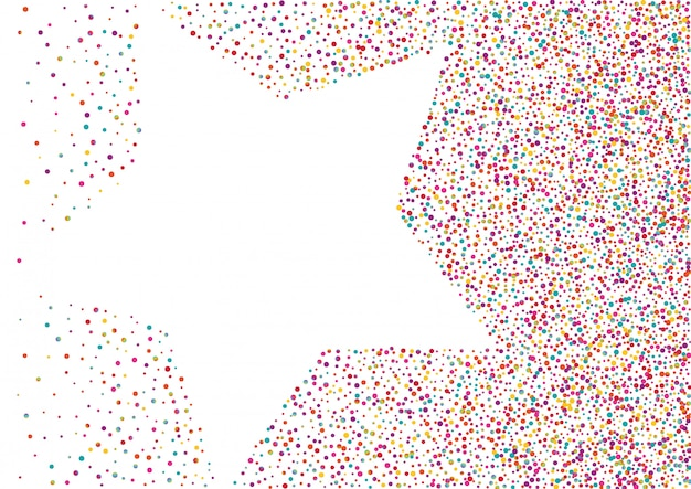 Abstract dotted background with a star