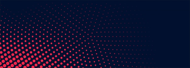 Abstract dotted banner background