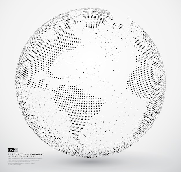 Abstract dotted globe earth