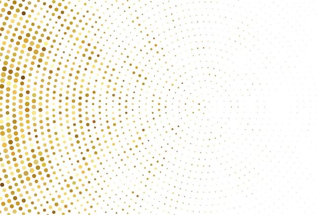 抽象的な点線の黄金パターン背景