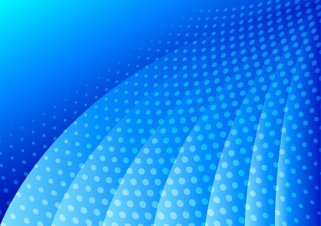 青色の背景に点在する抽象的な