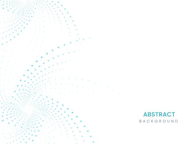 白と青の色で抽象的な点線の波の背景。
