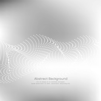 Abstract dotted wave grey background