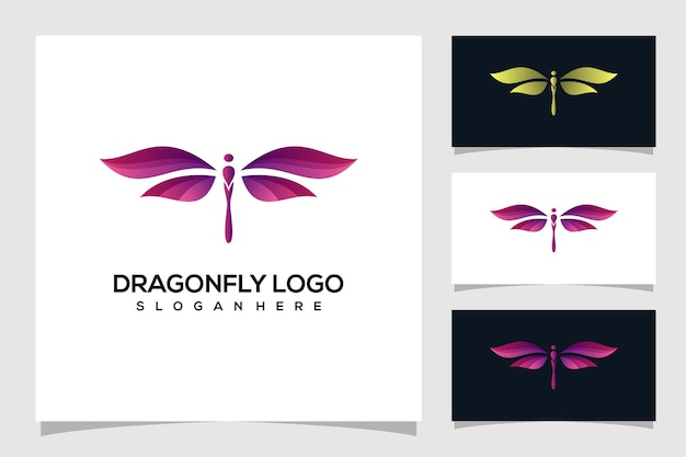 Абстрактный логотип стрекоза