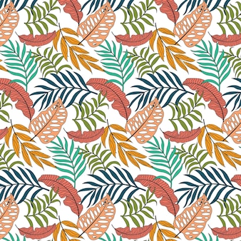Abstract drawn graphic seamless pattern of leaves.suitable for wallpaper, coverbook ,etc.