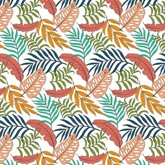 葉の抽象的な描画グラフィックシームレスパターン。壁紙、カバーブックなどに適しています。