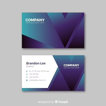 Abstract duotone business card template