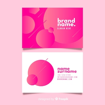 Abstract duotone gradient business card template