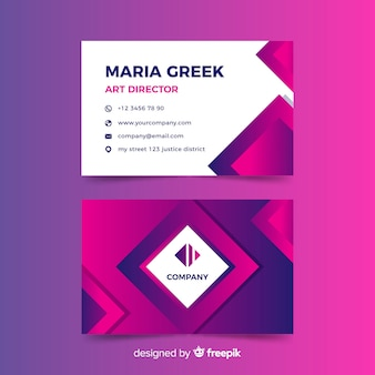 Abstract duotone gradient business card