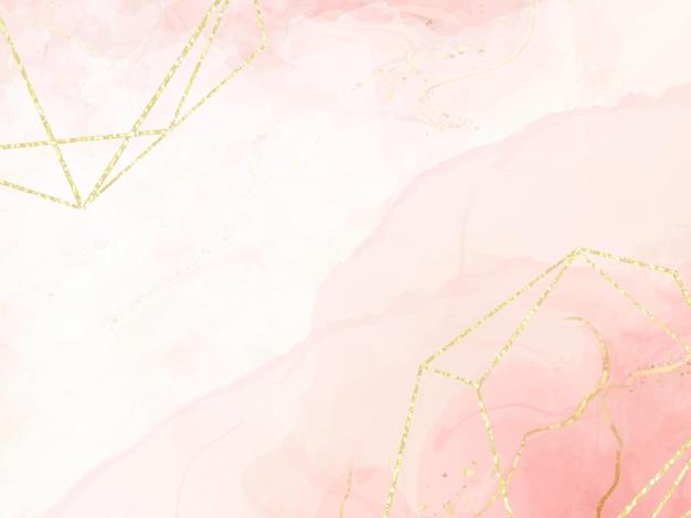 抽象的なほこりっぽいピンクの液体の水彩画の背景