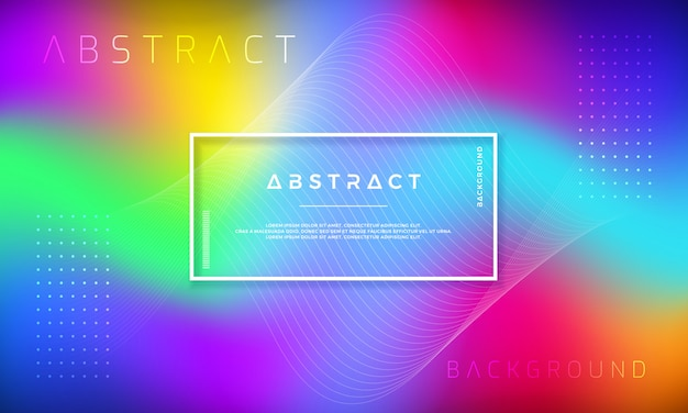 Abstract dynamic background design with colorful gradient shapes.