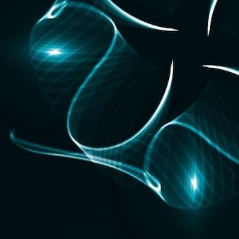 Абстрактный динамический фон, футуристические линии иллюстрации, концепт-арт