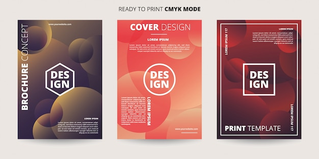 Abstract dynamic circle banner template