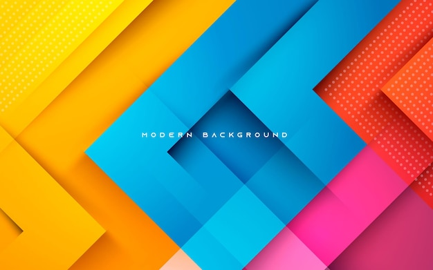 Abstract dynamic colorful shape light and shadow background
