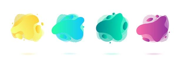 추상 동적 흐르는 액체 모양, 아메바 형태.