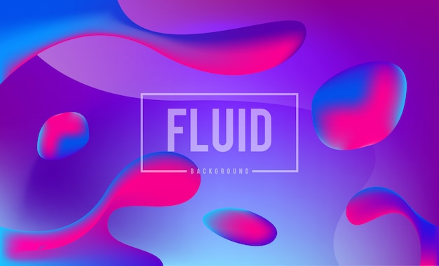 Abstract dynamic fluid colors background design template