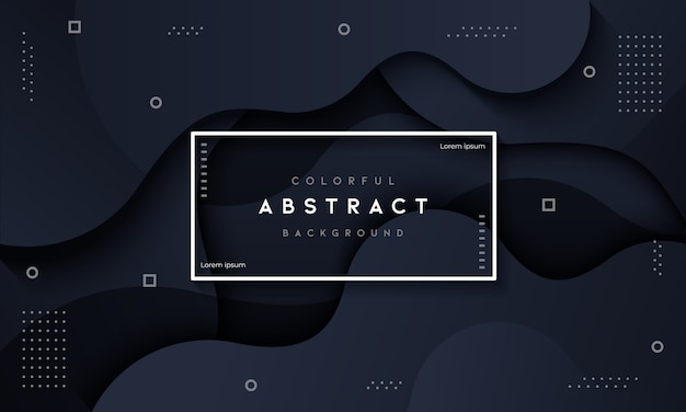 Abstract dynamic fluid dark background