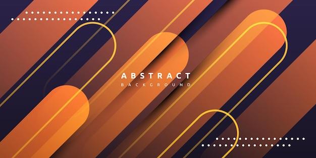 Абстрактная динамическая жидкая оранжевая полоса с красочным градиентным фоном