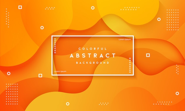 抽象的な動的流体テクスチャオレンジ色の背景