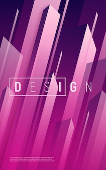 Abstract dynamic geometric background, colorful minimal cover