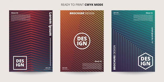 Abstract dynamic geometric banner template