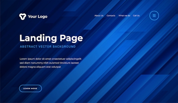 Abstract  dynamic geometric shapes website landing page