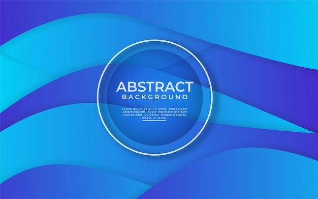 Abstract dynamic gradient blue background with shape composition