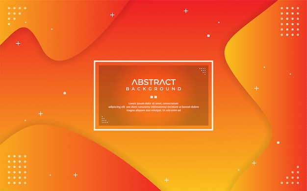 Abstract dynamic gradient orange background with shape composition