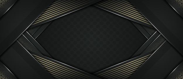 Abstract dynamic modern dark and golden dot background