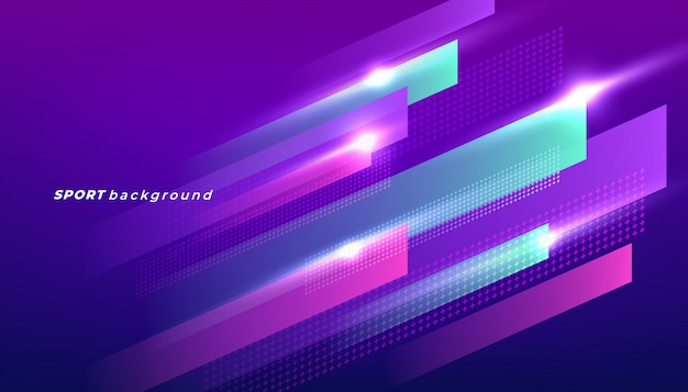 Abstract dynamic shapes background for sport event.