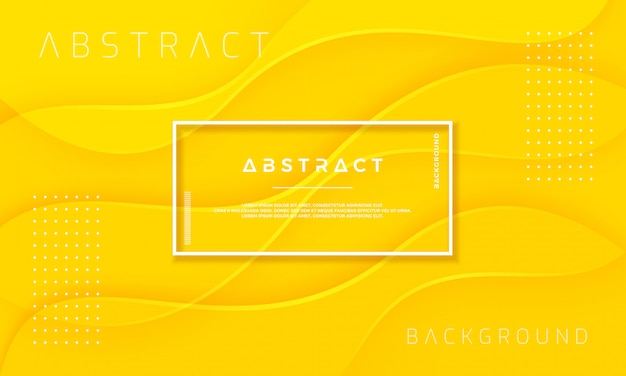 Abstract, dynamic and textured yellow background.