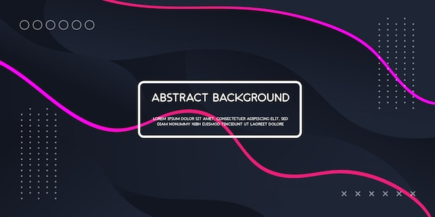 Abstract dynamic wave on dark background