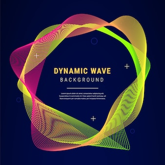 Abstract dynamic wave gradient background