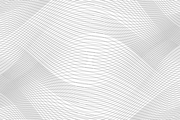 Abstract dynamic wave lines background