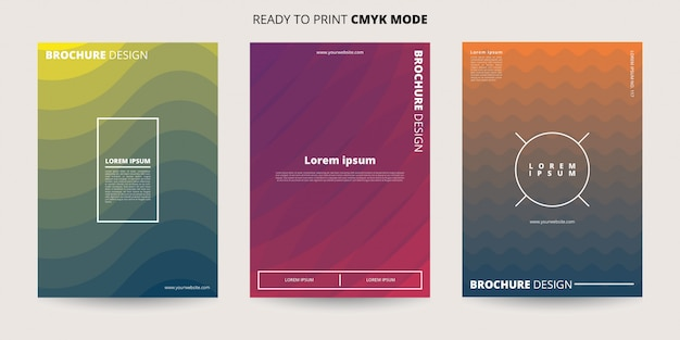 Abstract dynamic waves banner template