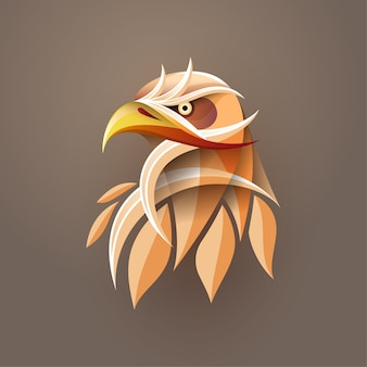 Абстрактное искусство градиента головы орла для печати плакатов, футболок, открыток