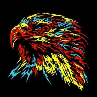 Abstract eagle illustration