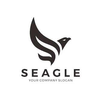 Abstract eagle logo with letter s