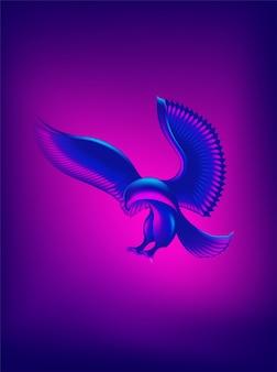 Abstract eagle shape