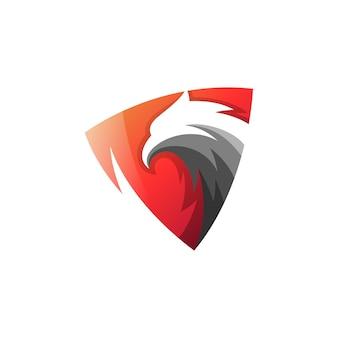 抽象的なワシの盾のロゴのテンプレート