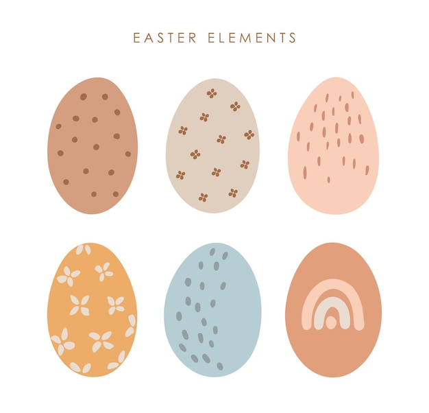 抽象的なイースターエッグセット自由奔放に生きる色の卵の装飾
