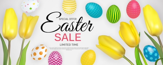 Abstract easter sale template background  illustration